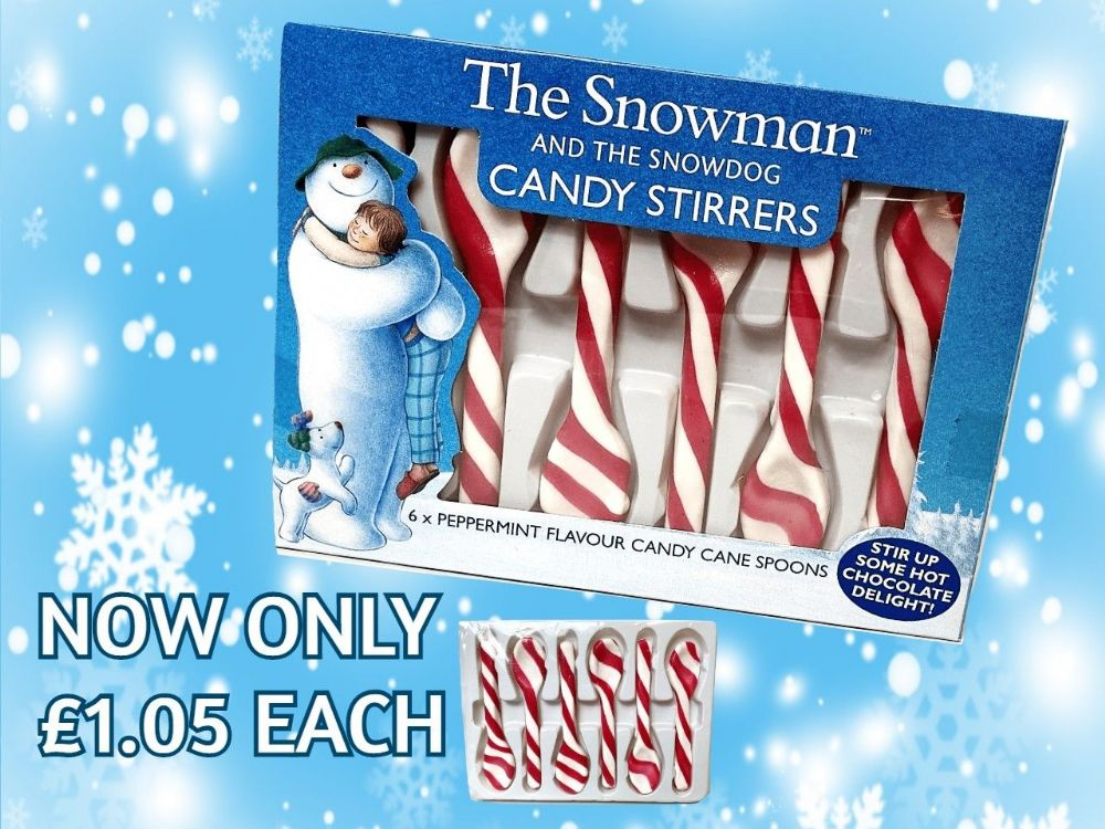 THE SNOWMAN & SNOWDOG  CANDY STIRRERS